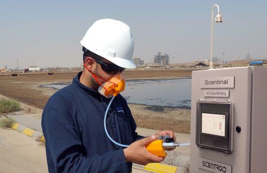 Misura dell'odore con naso elettronico