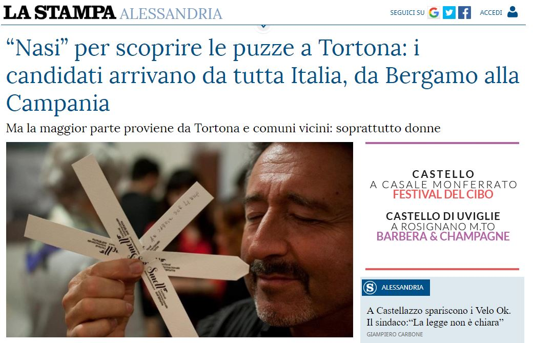 """""""Nasi"""" per scoprire le puzze a Tortona: i candidati arrivano da tutta Italia, da Bergamo alla Campania"""