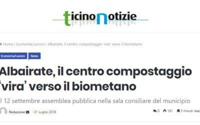 Albairate, il centro compostaggio 'vira' verso il biometano