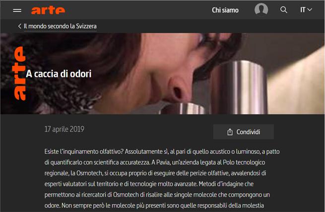 """""""A caccia di odori"""" su www.arte.tv"""