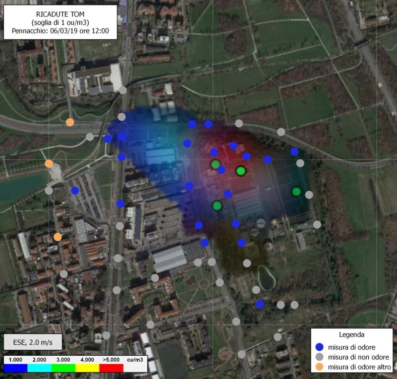 Odour Field Inspection - Metodo del pennacchio